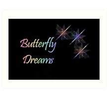 Butterfly Dreams II Art Print