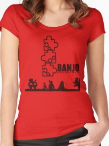 Banjo Unchained (Prints/Posters, and Shirt) Women's Fitted Scoop T-Shirt