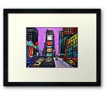 Time Square Framed Print