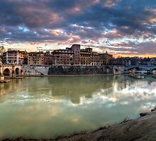 Tiber River Sunset by Yhun Suarez