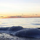 Sunset and Bay with Foam by RaymondJames