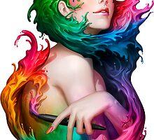 Illustration- Painter Girl  by Edward Martinez