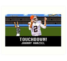 Tecmo Bowl Touchdown Johnny Manziel Art Print
