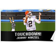 Tecmo Bowl Touchdown Johnny Manziel Poster