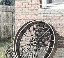 Wagon Wheels Pen & Ink by TCbyT