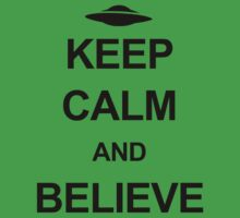 X-Files - Keep Calm and Believe (black text) Kids Tee