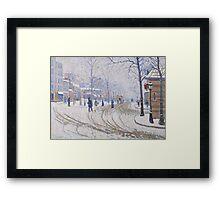 Snow, Boulevard de Clichy, Paris, 1886 Framed Print