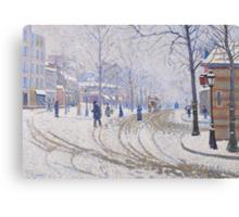 Snow, Boulevard de Clichy, Paris, 1886 Canvas Print