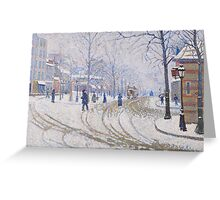 Snow, Boulevard de Clichy, Paris, 1886 Greeting Card