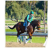 Brown Pony. Santa Anita Race Track. Poster