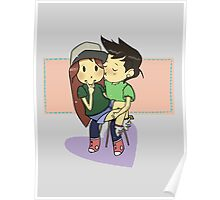 Super Cute Commission Art for Couples Poster