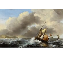 Fishing Vessels Offshore in a Heavy Sea, 1864  Photographic Print
