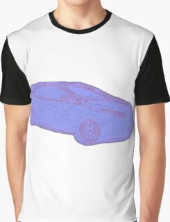 Focus ST Mk3 Drawing - Blue Graphic T-Shirt