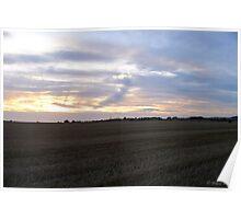 A Wheatfield Sunset Poster