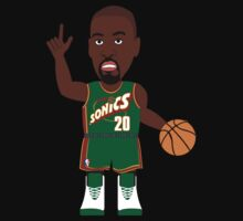NBAToon of Gary Payton, player of Seattle Supersonics by D4RK0