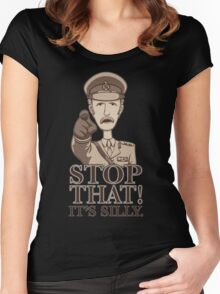 Stop That! -Dark Women's Fitted Scoop T-Shirt