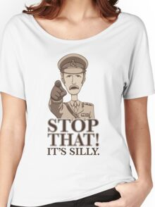 Stop That! -Dark Women's Relaxed Fit T-Shirt