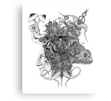Psilocybinaturearthell Psychedelic Ink Illustration Metal Print