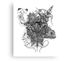 Psilocybinaturearthell Psychedelic Ink Illustration Canvas Print