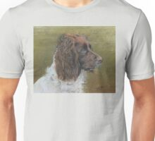 Spaniel working in the field Unisex T-Shirt