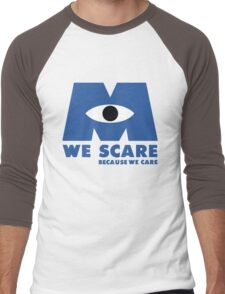 WE SCARE BECAUSE WE CARE Men's Baseball ¾ T-Shirt