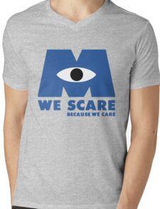 WE SCARE BECAUSE WE CARE Mens V-Neck T-Shirt