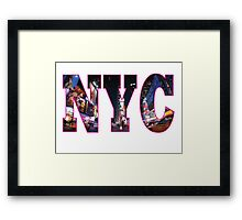 NEW YORK Pink Framed Print