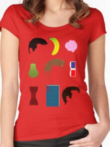 Icons of Doctors Women's Fitted Scoop T-Shirt