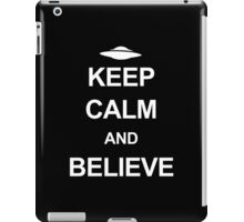 X-Files - Keep Calm and Believe (white text) iPad Case/Skin