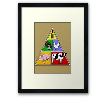 Manly Food Pyramid Framed Print