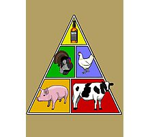 Manly Food Pyramid Photographic Print