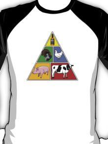 Manly Food Pyramid T-Shirt