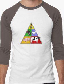 Manly Food Pyramid Men's Baseball ¾ T-Shirt