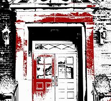 Grand Entrance - Black White And Red Series by Betty Northcutt