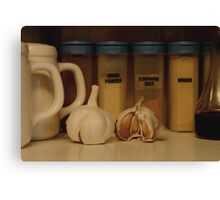 Spice shelf Canvas Print
