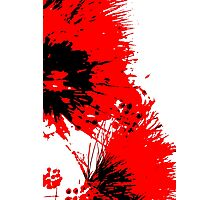 Splatter - Black White And Red Series Photographic Print