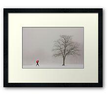 A SHORTCUT THROUGH THE SNOW Framed Print