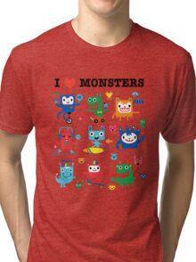 Monster Love Tri-blend T-Shirt