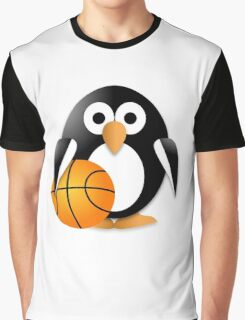 Penguin with a basketball ball Graphic T-Shirt