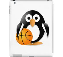 Penguin with a basketball ball iPad Case/Skin