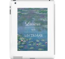 It's Leviosa! Harry Potter Hermione Quote- Waterlillies iPad Case/Skin