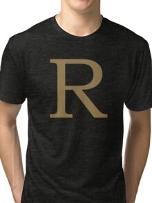 Weasley Sweater - R (All letters available!) Tri-blend T-Shirt
