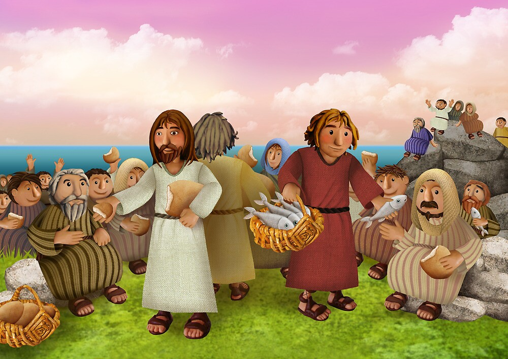 The miraculous multiplication of loaves and fishes by Stijn Van Elst
