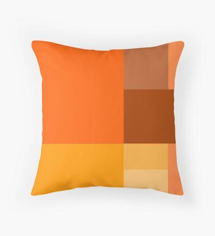 Orange Color Blocks Throw Pillow