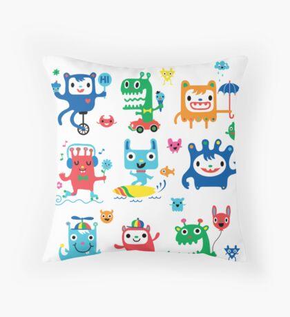 Monster Love Throw Pillow