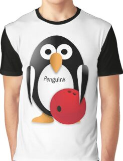 Penguin with bowling bow Graphic T-Shirt