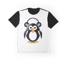 Penguin with headphones Graphic T-Shirt
