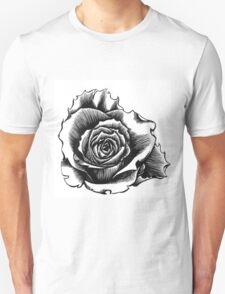 Rose Tattoo Too - Ink Drawing T-Shirt