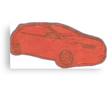 Focus ST Mk3 Drawing - Race Red Canvas Print