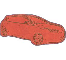 Focus ST Mk3 Drawing - Race Red Photographic Print